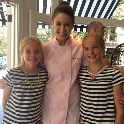 Me (right) and Emily (right) with our chef mentor Chloe Coscarelli.